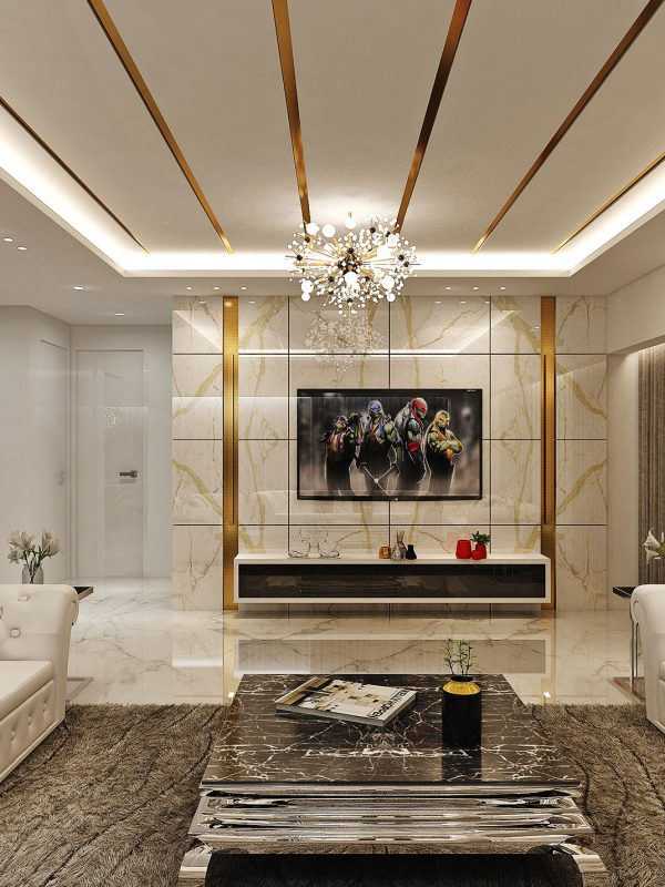 white ecstasy interior design project
